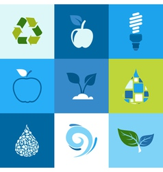 Ecology icon2 vector image vector image