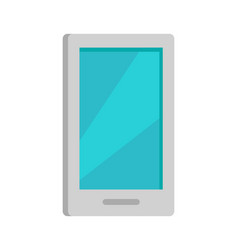 mobile phone icon isolated on white vector image