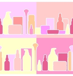 Bottles and creams vector image vector image