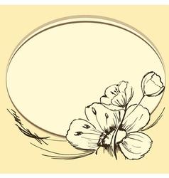 brown flowers vector image vector image