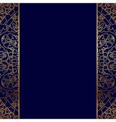 gold ornate border vector image vector image
