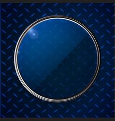 metallic border with glass over metal diamont vector image vector image