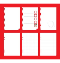 notepad paper vector image
