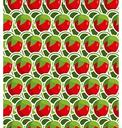 Strawberry seamless background pattern from garden vector image