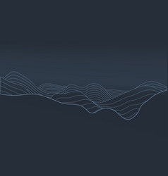 3d abstract elevation contour topography line map vector