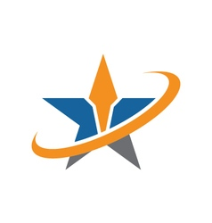 A Star Logo vector