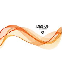 Abstract background orange wavy vector