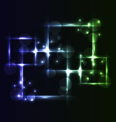 Abstract background set square bubbles with light vector