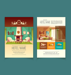 Advertising leaflet with hotel service list vector