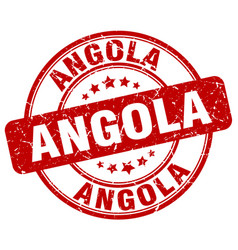 Angola red grunge round vintage rubber stamp vector
