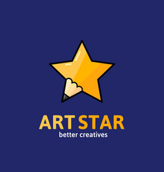 art star abstract sign emblem or logo vector image