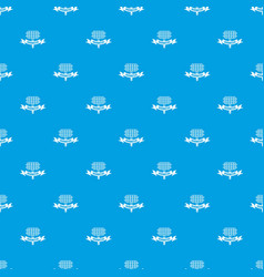 barbecue picnic pattern seamless blue vector image