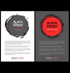 black friday save up to 70 percent promo vector image