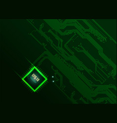 bright cpu vector image