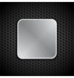 brushed metal tile background vector image