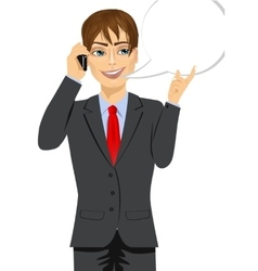 businessman having conversation vector image