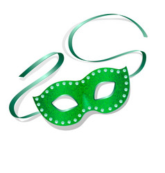 carnival mask with shiny texture vector image