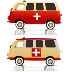 Cartoon ambulance vector image