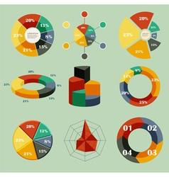 Chart infographics vector