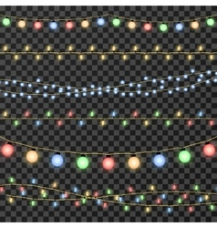 christmas garland lights isolated vector image