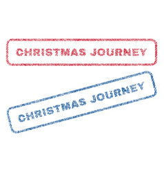 Christmas journey textile stamps vector