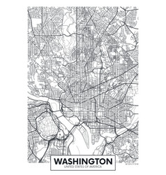 city map washington travel poster design vector image
