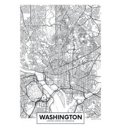 City map washington travel poster design vector