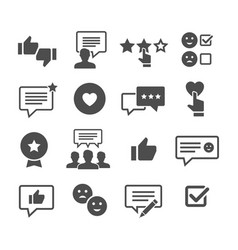 Customer reviews icon set vector