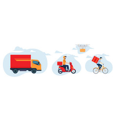 Delivery services concept vector