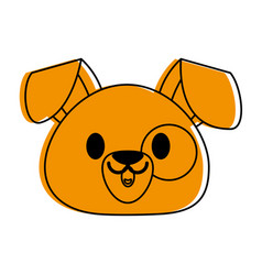 Dog or puppy cute animal cartoon icon image vector