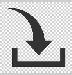 download file icon in flat style arrow down vector image