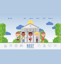 education for children school website design vector image