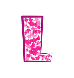 english pink letter l on a white background vector image