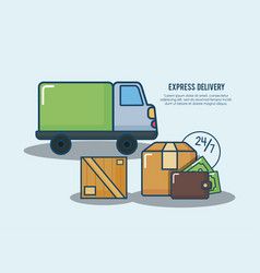 express delivery design vector image