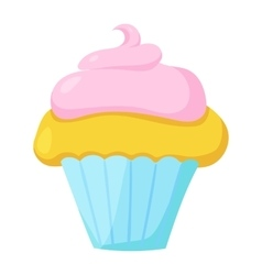 Fast food cupcake icon vector image