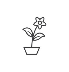 flower pot icon design template isolated vector image