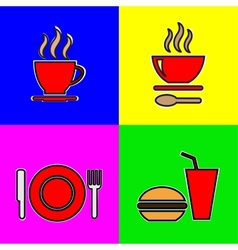 Food icons vector