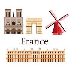 france romance set icon vector image