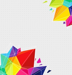 Geometric background with bright triangle elements vector