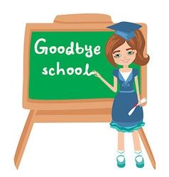 Goodbye School vector image