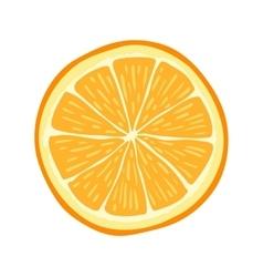 Hand drawn cartoon orange slice vector