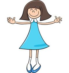 happy girl cartoon vector image