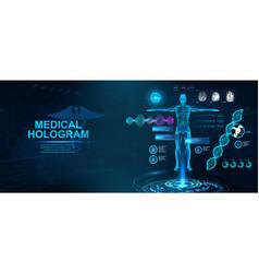 Healthcare hologram hud vector
