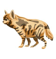 hyena icon cartoon style vector image