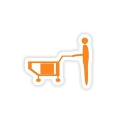 Icon sticker realistic design on paper loader vector