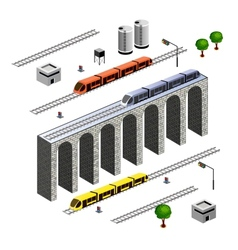 Isometric railroad vector
