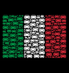 italy flag pattern of car icons vector image