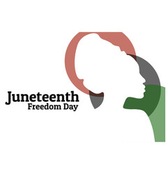 juneteenth june 19 holiday concept template vector image