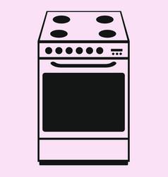 kitchen stove vector image