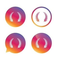 Laurel Wreath sign icon Triumph symbol vector image